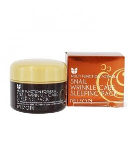 Ночная маска c экстрактом улитки Snail Wrinkle Care Sleeping Pack, 80 мл, Mizon