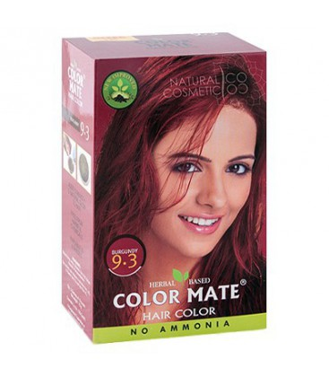 "Краска для волос цвет ""Бургундия"", 75 гр., COLOR MATE Hair Color"